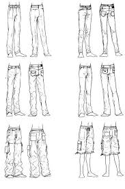 Pants Drawing Reference Men Women Clothing Draw Drawing Sketch Reference Pants Jeans