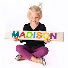 Gifts for 3-Year-Old Girls. Child\u0027s Personalized Name Puzzle. Puzzle Girls, Best Toys Girls Age Three