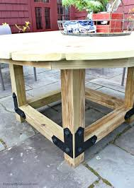 diy round outdoor table. This Is One Solid Based With 4x4 Legs And Supports Then I Used The Outdoor  Accents Brackets To Connect Pieces. Simple Strong, You Should Check Out Diy Round Outdoor Table I