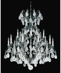 lamp schonbek swarovski strass crystal chandelier terrific schonbek 2473 versailles rock crystal 39 inch wide