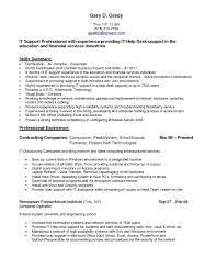 It Help Desk Resume Sample Pdf New Desktop Support Job Description