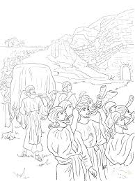 Tabernacle Coloring Page Pages Chapter Moses Tabern Ilovezclub