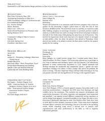 Interior Designer Resume Design Sample Student Curriculum Vitae