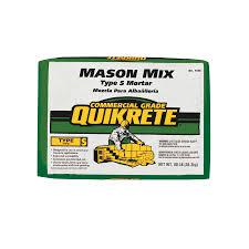 quikrete 80 lb gray type s mortar mix