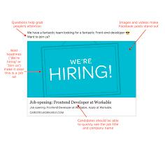 Job Posting Template Were Hiring Facebook Post Template Workable