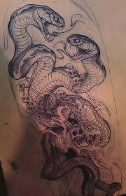 эскизы тату змей значение татуировки со змеей Japan Tattoo Art