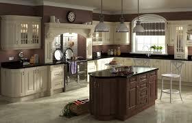 cream and dark walnut kitchen picture