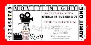 Movie Night Invitation Template Free Movie Invitation Template Free Free Movie Night Party Movie Premiere