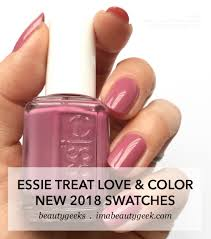 Essie Color Chart Essie Treat Love Color Swatches Review 2018 Beautygeeks