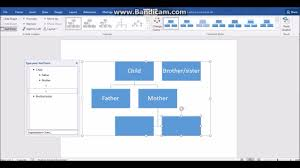 How To Make A Family Tree Chart On Microsoft Word How To Make A Family Tree In Word 2016 Youtube