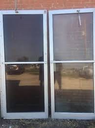 commercial double glass aluminum front entry doors