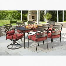 extremely creative hampton bay outdoor furniture replacement parts oak cliff 4 piece metal deep seating set with chili cushions