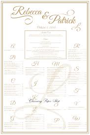 Wedding Seating Chart Etiquette Custom Calligraphy On This Creative Goldwedding Seating