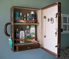 Here's a fun DIY idea; turn a vintage suitcase into a medicine cabinet! I  couldn't resist posting this after seeing in on Pinterest today (via a site  in ...