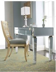 desk office home. Amazing Midtown Girl Decor Mirrored Desk For Home Office Inside Attractive