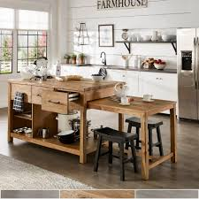 Image Breakfast Bar Overstockcom Tali Reclaimed Wood Extendable Kitchen Island By Inspire Classic
