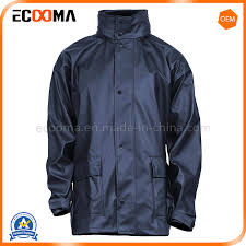 China New Style <b>2019 Men</b>′s Waterproof <b>PU</b> Raincoat Rain <b>Jackets</b>