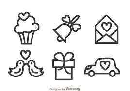 Wedding Outline Icons Download Free Vector Art Stock Graphics