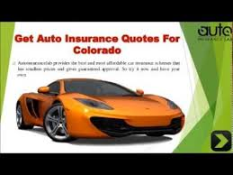 Auto Insurance Quotes Colorado Enchanting CAR INSURANCE QUOTES COLORADO YouTube