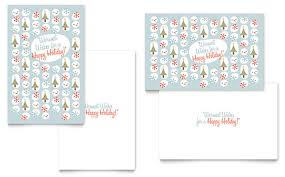 Happy Holiday Card Templates Happy Holidays Greeting Card Template Design