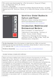 "PDF) Hilary Cunningham and Josiah McC. Heyman, ""Introduction: Mobilities  and Enclosures at Borders"" (download available) 