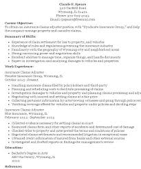 Claims Adjuster Resume Interesting Insurance Adjuster Resume Template