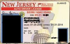 New Template Photoshop Jersey Drivers License