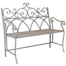 Outdoor Wrought Iron Bench