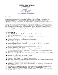 Pacs Administration Sample Resume