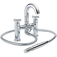 francis pegler xia deck mounted bath shower mixer tap with shower kit