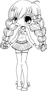 Coloriage Chibi Princesse Imprimer