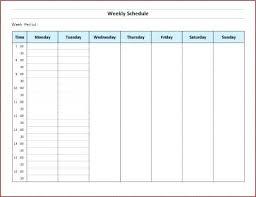 Week Hourly Calendar Free Printable Schedule Maker Home Template 6 Pages One Week
