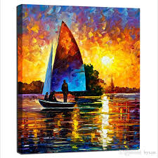 2018 boat canvas wall art single panel boat canvas art seascape wall decoration paintings for living room bedroom wall decorations no frame from byxart  on boat canvas wall art with 2018 boat canvas wall art single panel boat canvas art seascape