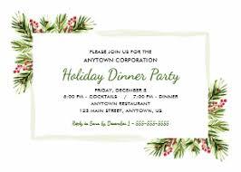 Christmas Dinner Invitations Zazzle