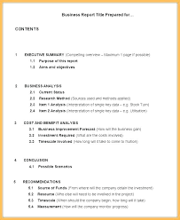 Format For An Executive Summary Executive Summary Report Example Template