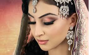 subtle peach asian bridal makeup