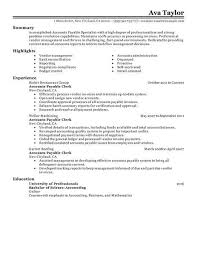 Employment Specialist Resume Enchanting Accounts Payable Specialist Resume Examples Accounting Finance