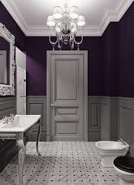 purple bathroom color ideas. Perfect Ideas Bathroom Decor Ideas Purple Paint And Chandelier Throughout Purple Color Ideas Pinterest