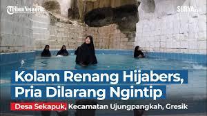Buka bukaan di kolam renang!! Laki Laki Dilarang Masuk Kolam Renang Khusus Hijabers Di Setigi Gresik Bernuansa Alam Eksotik Youtube