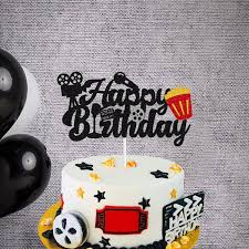 Buy QUTANA Film Cake Topper Movie Cinema Birthday Cake Decoration Happy  Birthday Sign Cake Decor for Film Projector Movie Night Camera Popcorn  Theater Theme Bday Party Celerbrating Supplies Online in Turkey. B0928XPKKD
