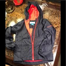 Columbia Jacket Boys Size Xs Navy Blue Zip Up Hood