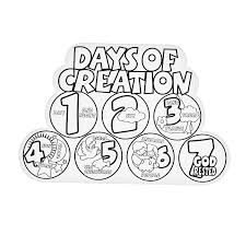 7 Days Of Creation Coloring Pages For Kids And For Adults