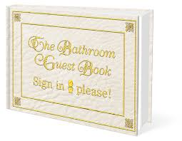 Bathroom Guest Book Bathroom Guest Book A Red Letter Original
