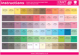 Fondant Colors Chart Using Our Colour Mixing Chart To Capture The Perfect Shade
