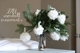 snowball ornaments from yarn pom poms
