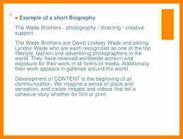 Artist Bio Samples Resume Bio Example Artist Bio To Create A