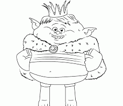 Trolls Colouring Pages Dj Suki Pdf Coloring Branch Poppy Unusual