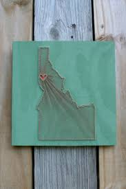 Two State String Art Etsy. DIY State String Art Crafthubs. Yarn ...