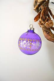 12 Ddr Weihnachtsbaumkugeln Christbaumschmuck Lila Verziert