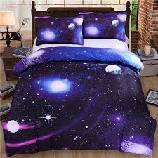 whole hot 3d galaxy bedding sets twin queen size universe outer space themed bedspread 2 3 bed linen bed sheets duvet cover set bedding linen duvet